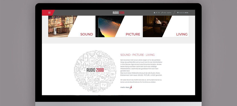 Webseite Relaunch für Audio 2000 aus Wuppertal - Grafik Beispiel