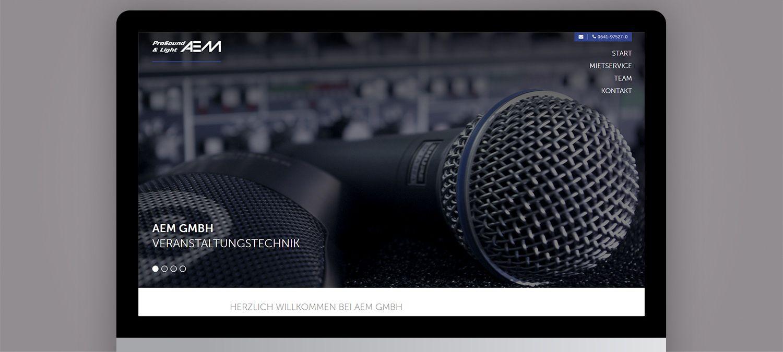 AEM GmbH Webseite Relaunch