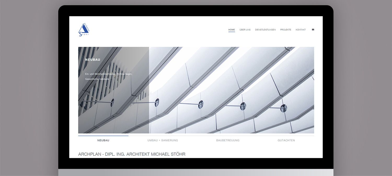 Webseite Relaunch für Stöhr Architekten - Slider Beispiel