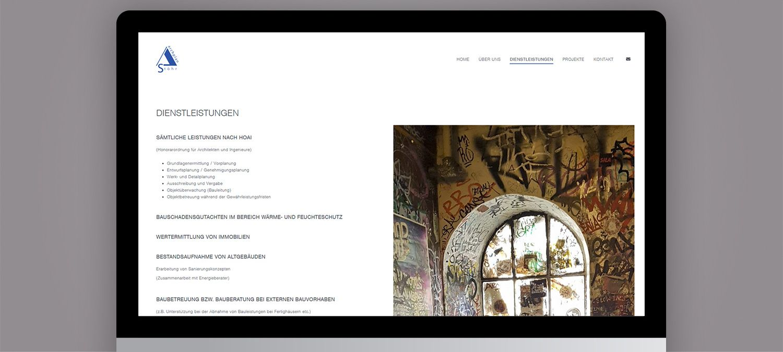 Webseite Relaunch für Stöhr Architekten - Unterseite Beispiel