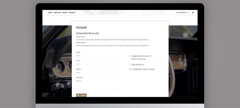 Create your Mustang Webseite Erstellung  - Kontaktformular Beispiel