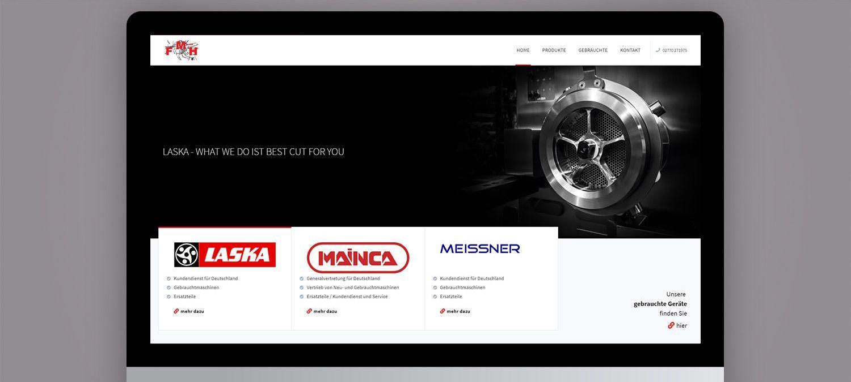 Webseite Entwicklung für FMH Müller - Slider Beispiel