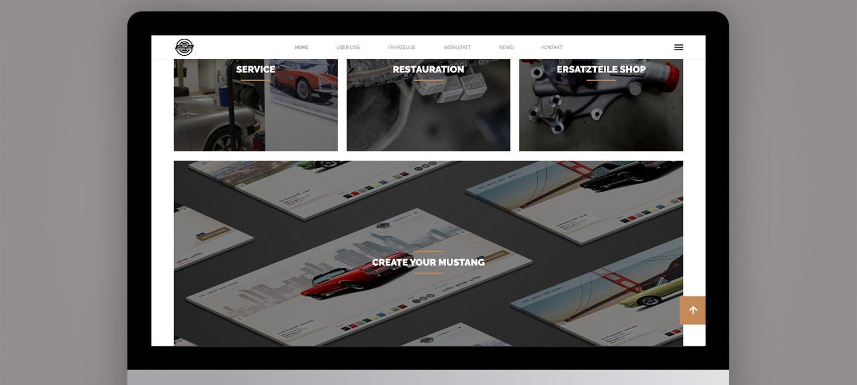 Webseite Relaunch für einen Autorestaurator aus München - Navigation Beispiel