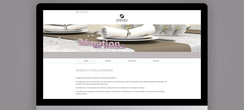 Webseite Gestaltung für Maier Deko - 3D für Webseite Beispiel