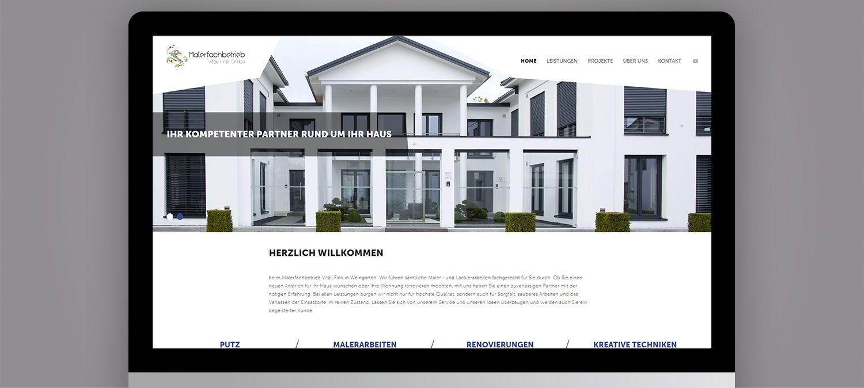 Webseite Relaunch für Malerfachbetrieb - Slider Beispiel