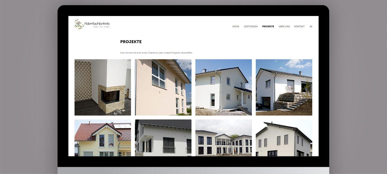 Webseite Relaunch für Malerfachbetrieb - Projektkatalog Beispiel