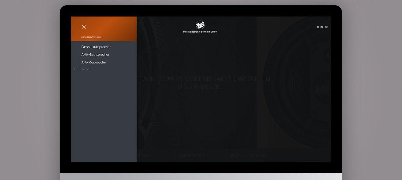 Webseite Relaunch für ME Geithain - Menünavigation Beispiel