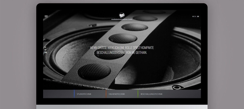Webseite Relaunch für ME Geithain - Webseite Slider Beispiel
