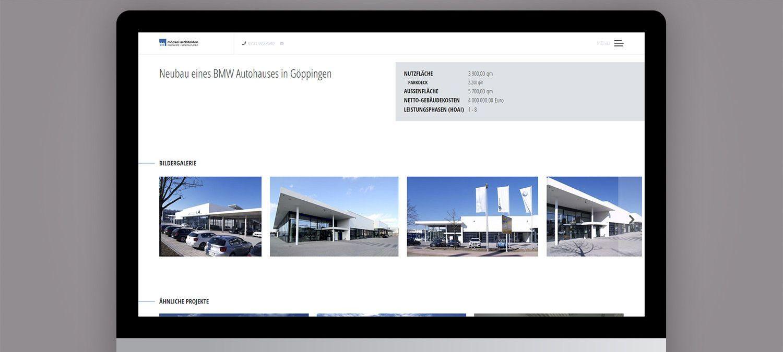 Webseite Entwicklung für Möckel Architekten - Fotogalerie Beispiel