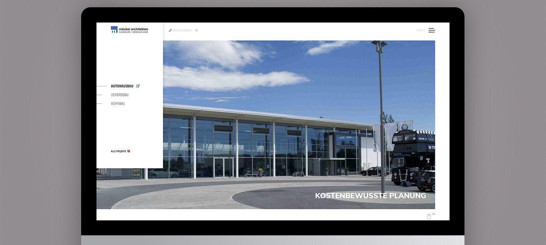 Webseite Entwicklung für Möckel Architekten - Slider Beispiel
