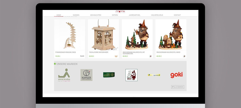 Webseite Entwicklung für Moma Erzgebirge aus Nürnberg - Herstellerleiste Beispiel