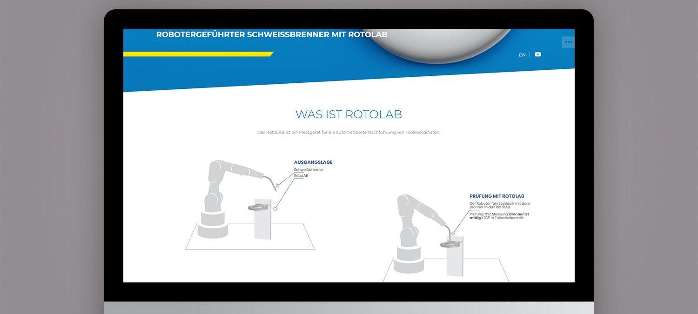 Entwicklung einer Landing Page für Wiest AG Kalibriersysteme in Neusäß - Illustrationen für Webseite Beispiel