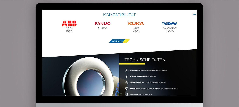 Entwicklung einer Landing Page für Wiest AG Kalibriersysteme in Neusäß - Partnerleiste Beispiel