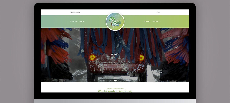 Webdesign für Wimbi Wash Augsburg