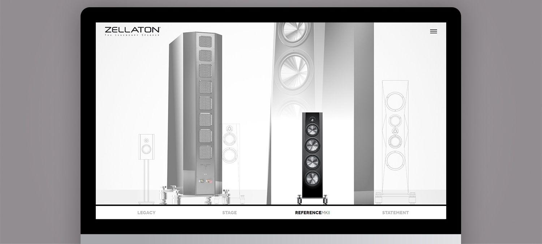 Einzigartige Webseite für Zellaton aus München - Webdesign Illustration Beispiel