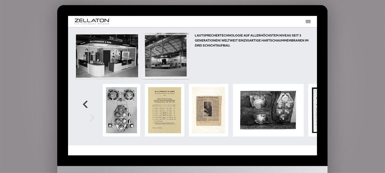 Einzigartige Webseite für Zellaton aus München - Fotogalerie Beispiel
