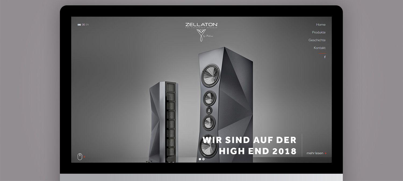 Einzigartige Webseite für Zellaton aus München - Slider Beispiel