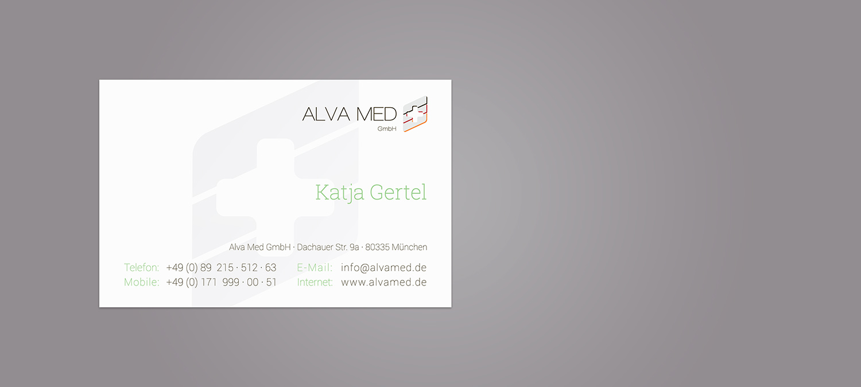 Visitenkarte Design und Fertigung mit Siebdruck