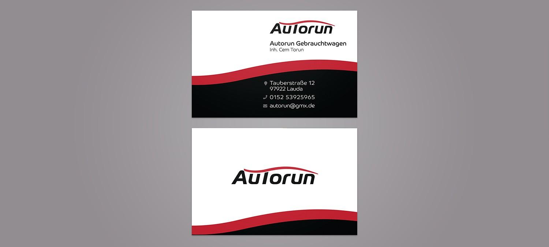 Visitenkarten Design für Autohändler - Visitenkarten Design Beispiel