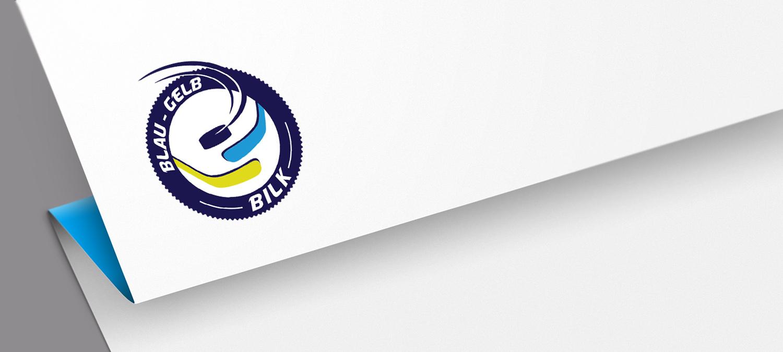 Blau Gelb Bilk Logoentwicklung