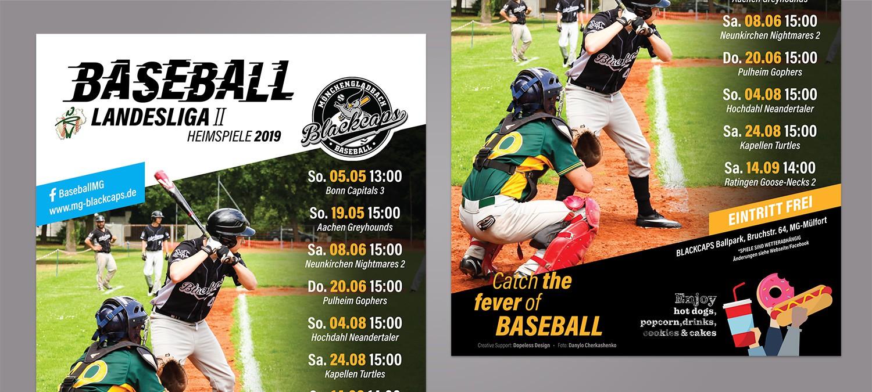 Plakat Design für einen Baseball Club - Plakat Design Bespiel