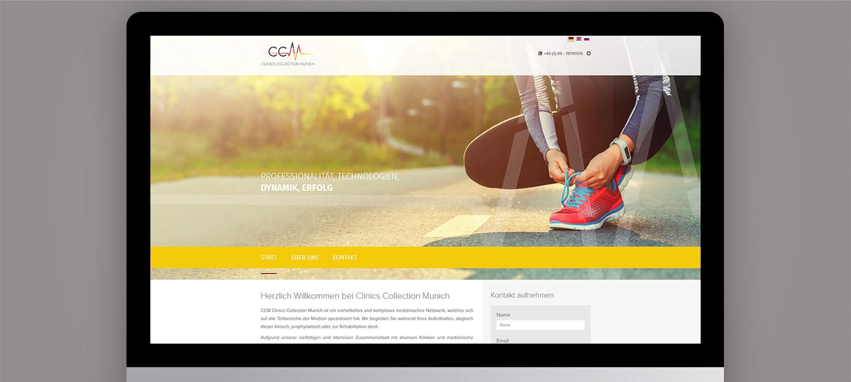 Clinics Collection Munich Webseite Entwicklung