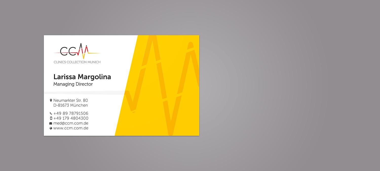 Exklusive Visitenkarte Design mit Siebdruck