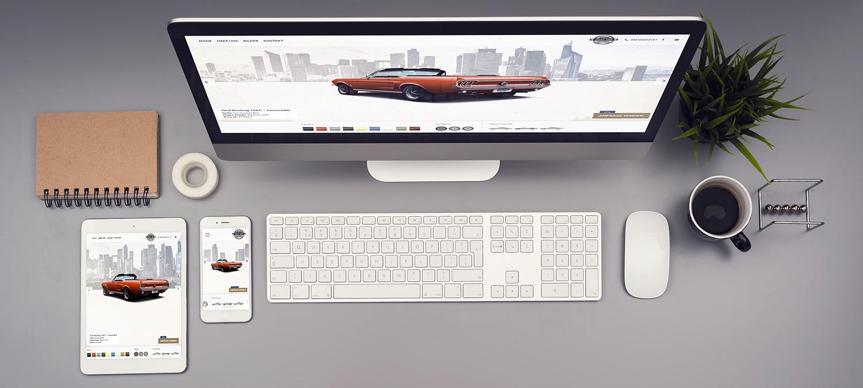 Create your Mustang Webseite Erstellung  - Responsive Beispiel