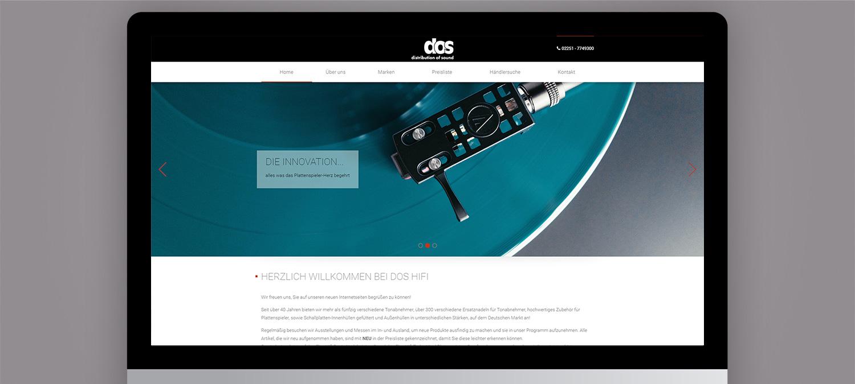 Dos HiFi Webseite Relaunch