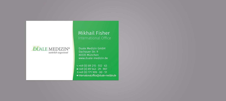 Visitenkarte Design und Siebdruck