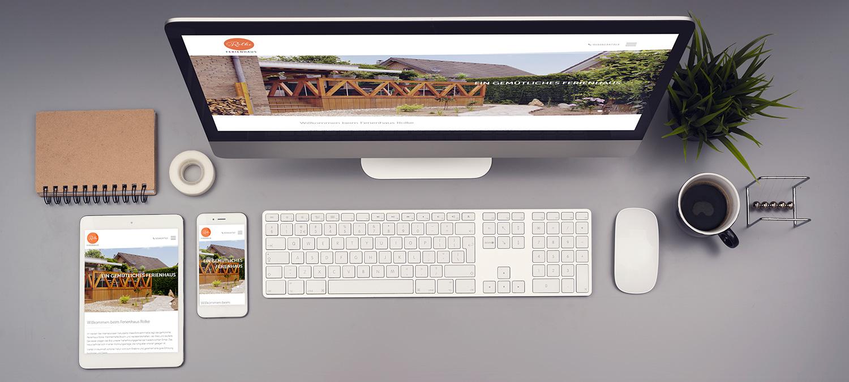 Webseite für Ferienhaus