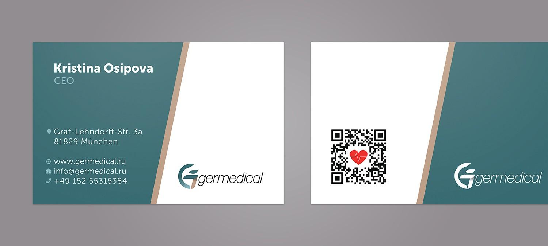 Visitenkarte Design für Germedical - Visitenkarte Design Beispiel