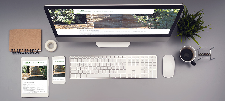 Webseite Entwicklung für Baufirma