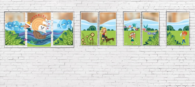 Schaufenster Design für Kita - Schaufensterdesign für Kita Beispiel