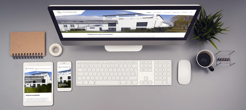 Webseite Relaunch für Malerfachbetrieb - Responsive Beispiel