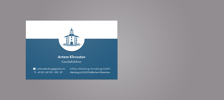 Schlossklinik Visitenkarte Design