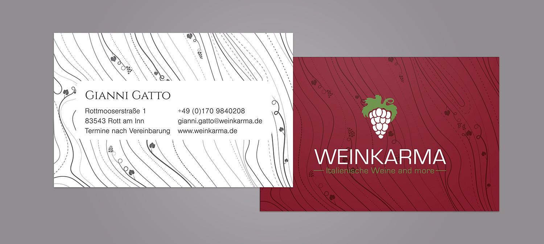 Visitenkarten Design für Weinladen - Visitenkarten Design Beispiel